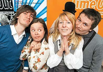 Федор Двинятин. Слева направо: Саша Гудков, Наташа Медведева, Марина Бочкарева, Женя Шевченко